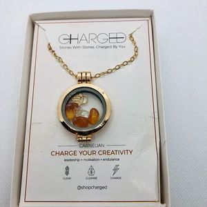 Charge your creativity Lock Carnelian Necklace
